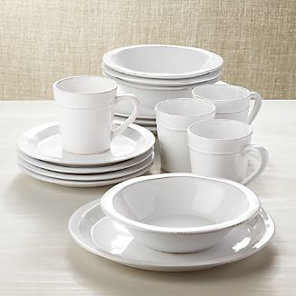 Marbury 16-Piece Dinnerware Set & Portugal Dinnerware | Crate and Barrel
