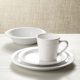 Marbury 4-Piece Place Setting & Earthenware Dinnerware | Crate and Barrel