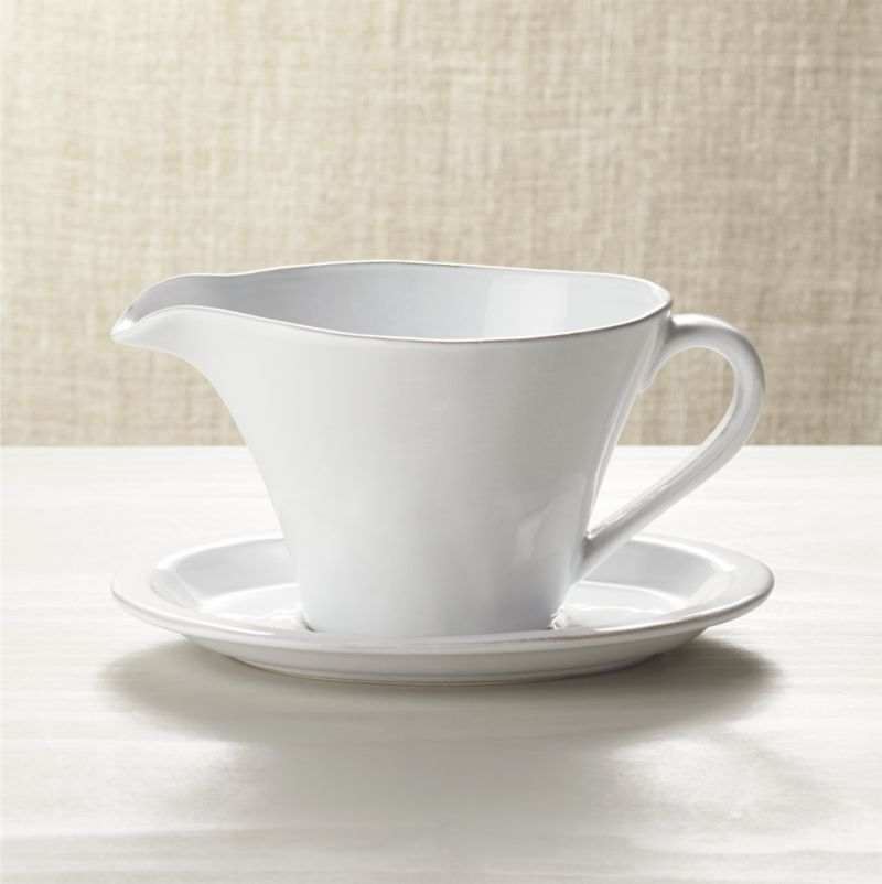 Marbury Gravy Boat With Saucer Reviews Crate And Barrel