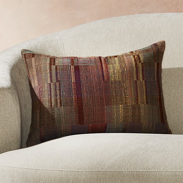 """Marcel Hand Woven Pillow 22""""x15"""" - Image 1 of 4"""