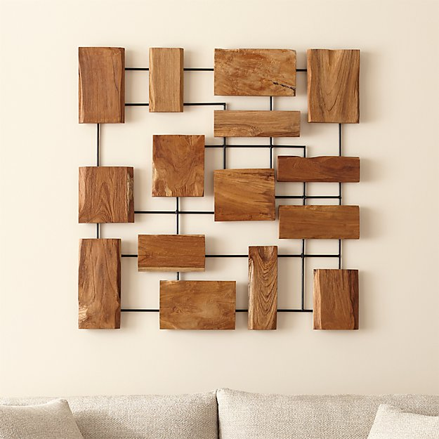 Marcel Teak Wall Art - Image 1 of 8