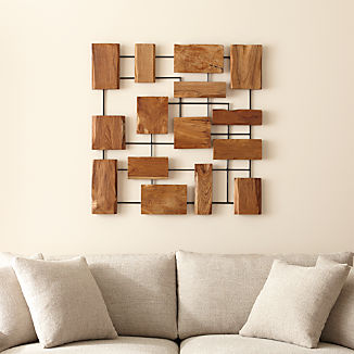 Marcel Teak Wall Art