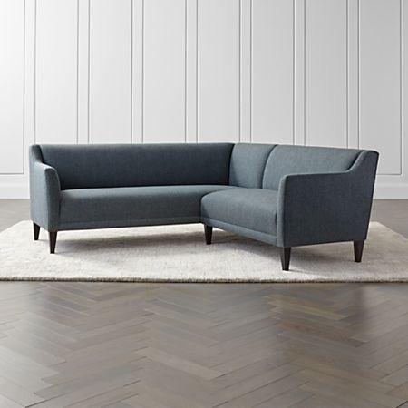 Margot II 2-Piece Left Arm Corner Sofa Sectional | Crate and Barrel