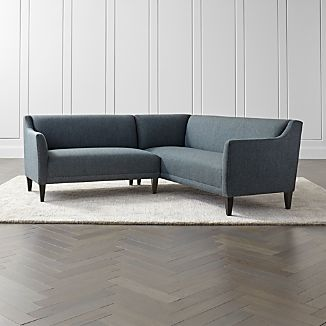 Margot II 2-Piece Right Arm Corner Sofa Sectional & Small Living Room Furniture | Crate and Barrel