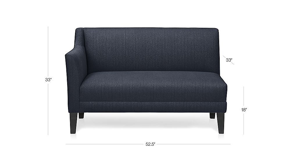 Margot Left Arm Loveseat Crate And Barrel