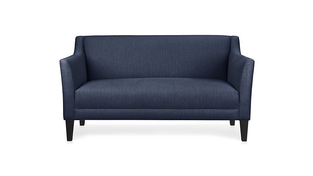 Margot Blue Loveseat   Crate and Barrel
