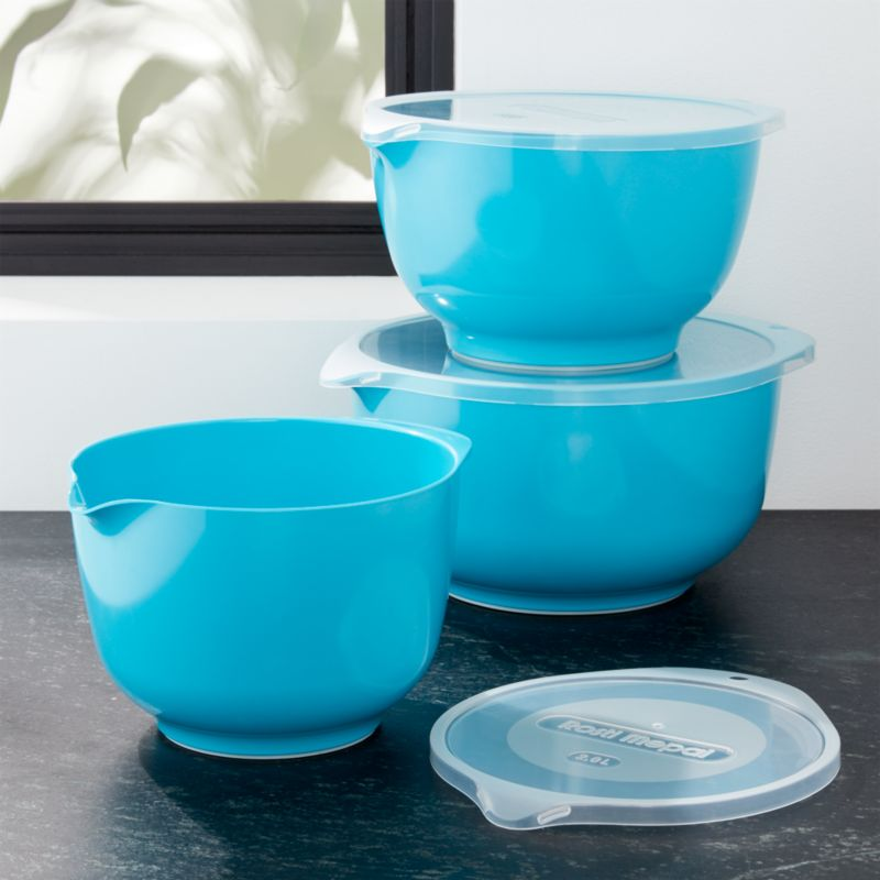 rosti latin blue melamine mixing bowls with lids set reviews crate and barrel. Black Bedroom Furniture Sets. Home Design Ideas