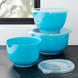 Rosti Latin Blue Melamine Mixing Bowls with Lids Set