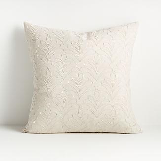 """Mari White Textured Pillow 20"""""""