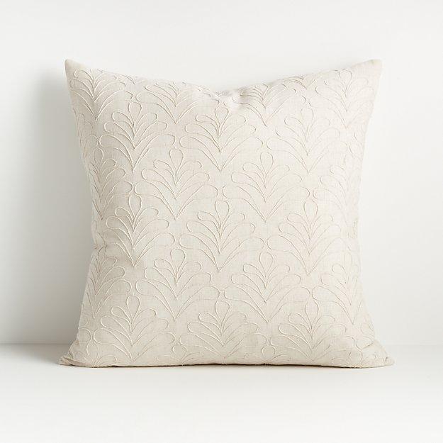 "Mari White Textured Pillow 20"" - Image 1 of 7"