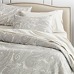 Mariella Full/Queen Cream-Grey Duvet Cover