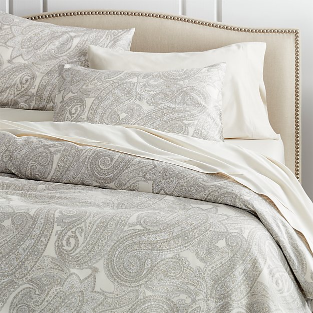 Duvet Covers.Mariella Cream Grey Duvet Covers And Pillow Shams