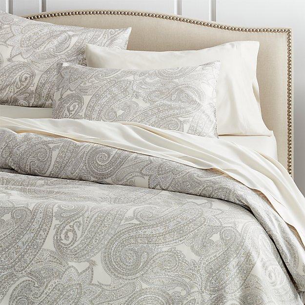 Mariella Cream Grey Duvet Covers And Pillow Shams Crate
