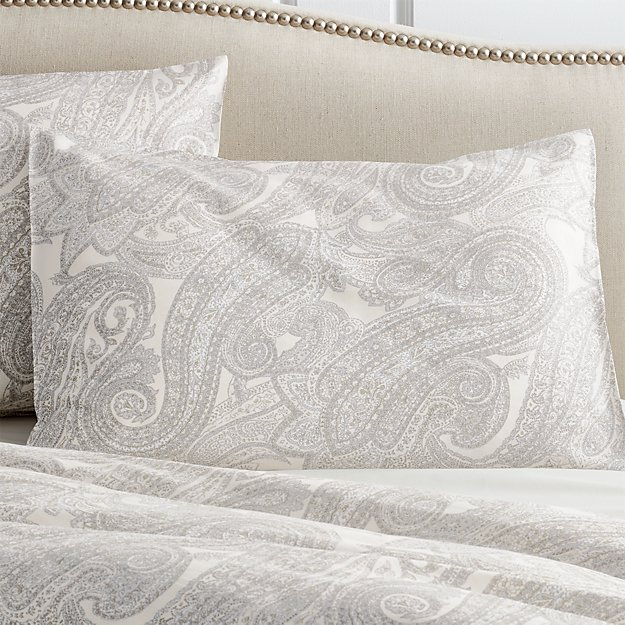 Mariella Standard Cream-Grey Pillow Sham - Image 1 of 3