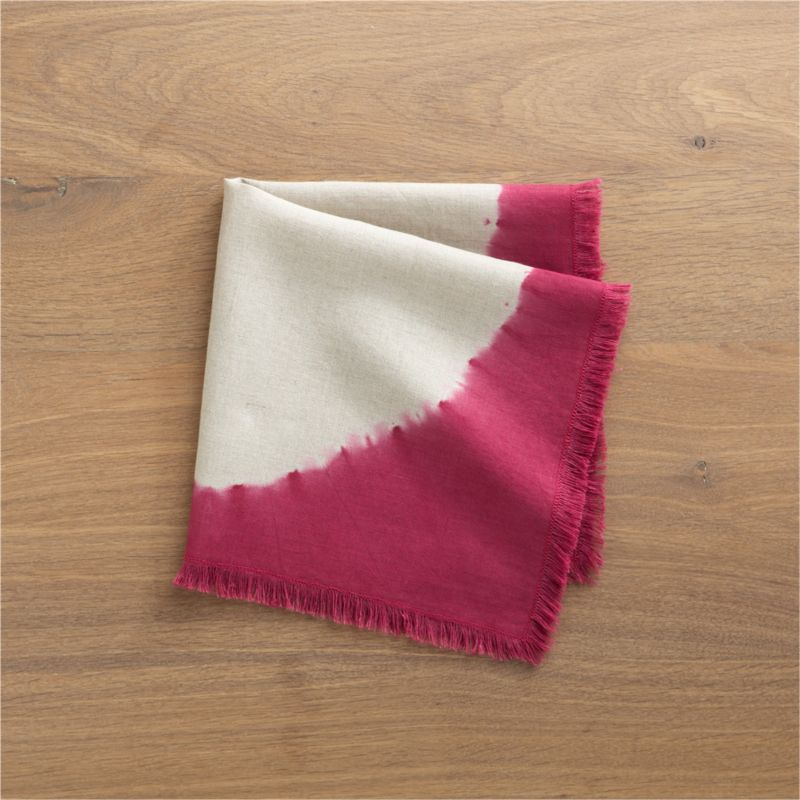 A single disk radiates on hand-dyed linen napkin lending a modern, artisanal note to the table. Napkin has natural, fringed edge. Each pattern is uniquely handcrafted and will vary.<br /><br /><NEWTAG/><ul><li>Handcrafted</li><li>100% linen</li><li>Machine wash cold, dry flat; warm iron as needed</li></ul>