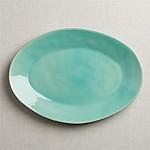 Marin Large Aqua Oval Platter