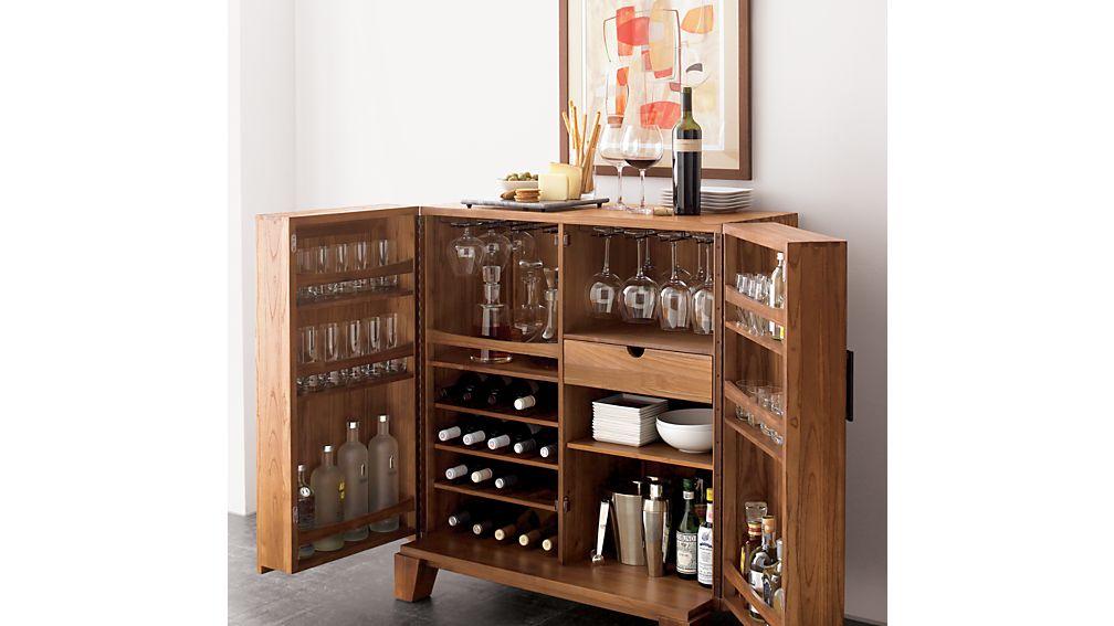 Marin Natural Bar Cabinet In Bar Cabinets & Bar Carts