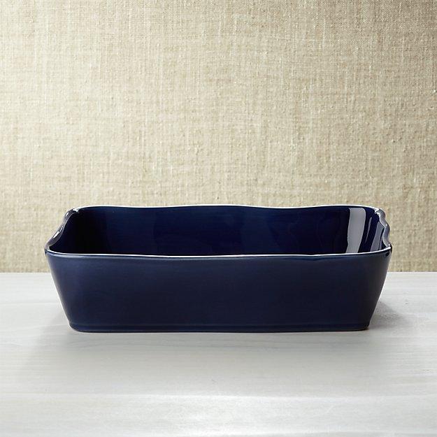 """Marin Dark Blue 12""""x8.5""""Baking Dish"""
