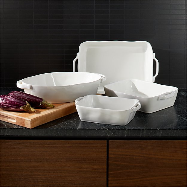 Marin White Baker with Handles - Image 1 of 1