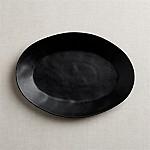 Marin Matte Black Oval Platter