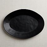 Marin Matte Black Large Oval Platter