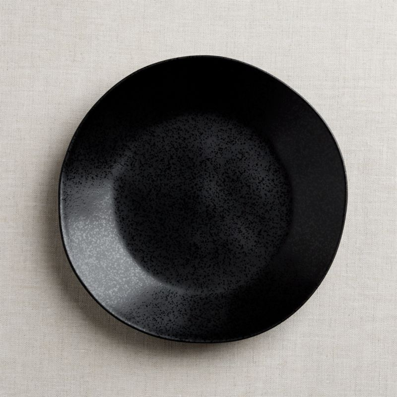 Marin Matte Black Dinner Plate Reviews Crate And Barrel
