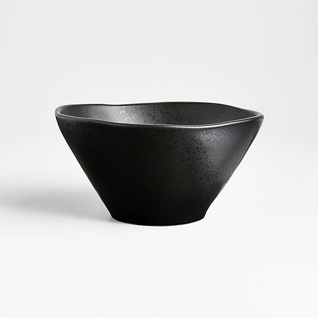 Marin Matte Black Cereal Bowl - Image 1 of 10