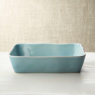 """Marin Blue 12""""x8.5"""" Baking Dish"""