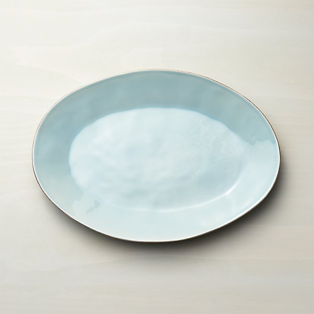 Marin Blue Small Oval Platter - Image 1 of 5
