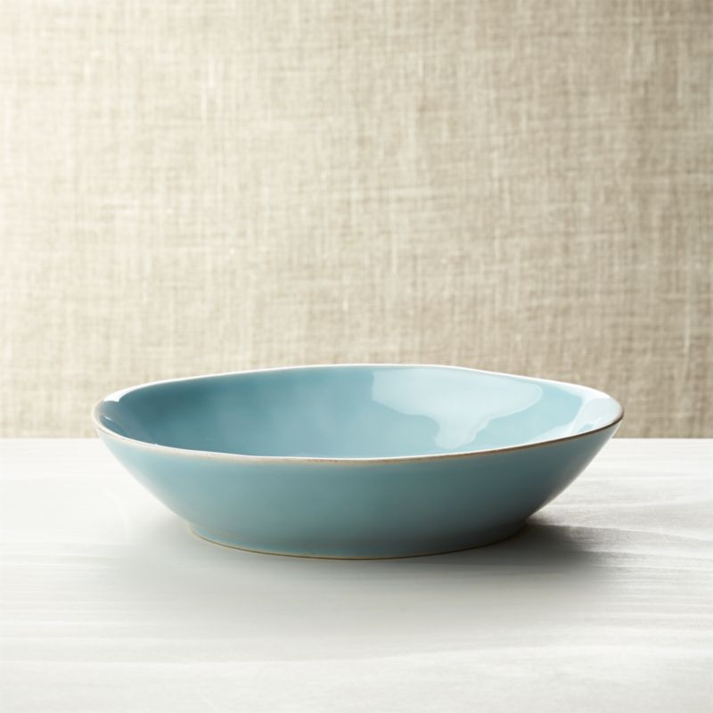 Marin Blue Low Bowl Reviews Crate And Barrel