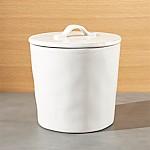 Marin Medium White Ceramic Kitchen Canister