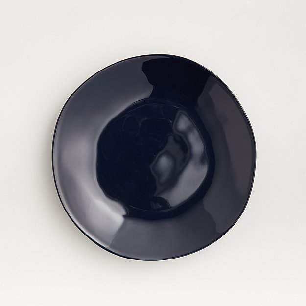 Marin Dark Blue Melamine Salad Plate - Image 1 of 4