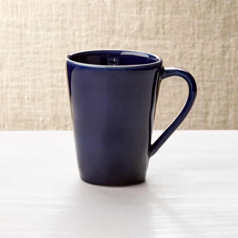 Marin Navy Blue Coffee Mug Reviews Crate And Barrel