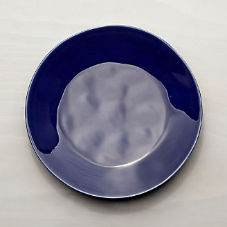 Marin Dark Blue Dinner Plate & Dinner Plates: Square Oval Rectangular u0026 Round | Crate and Barrel