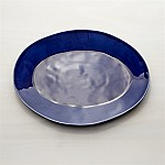Marin Dark Blue 15.75  Oval Platter