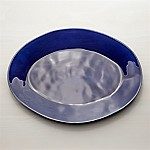 Marin Dark Blue 20  Oval Platter