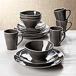 Marin Dark Grey 16-Piece Place Setting