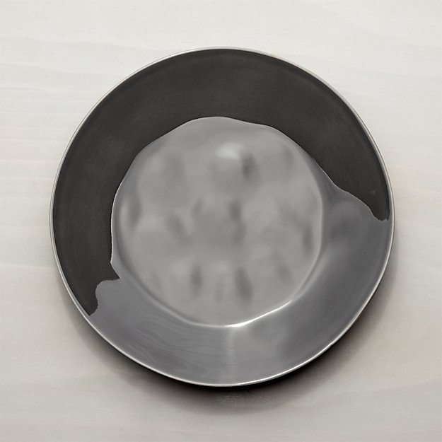 Marin Dark Grey Dinner Plate Crate And Barrel