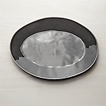 Marin Dark Grey 15.75  Oval Platter