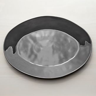 "Marin Dark Grey 20"" Oval Platter"