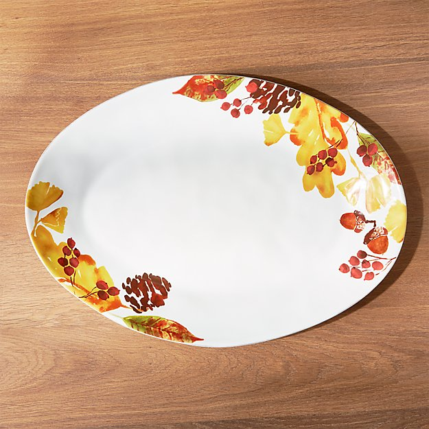 Marin Fall Foliage Oval Platter