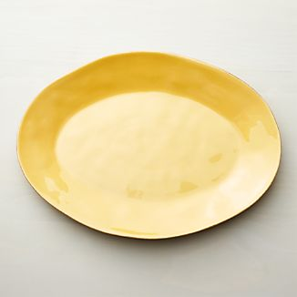 "Marin Gold 20"" Oval Serving Platter"