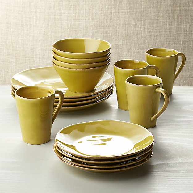 Crate&Barrel - Jars Tourron Black Piece Dinnerware Set, Dinnerware Collections Handcrafted by a famed French ceramics factory founded in , our casual, elegant dinnerware .
