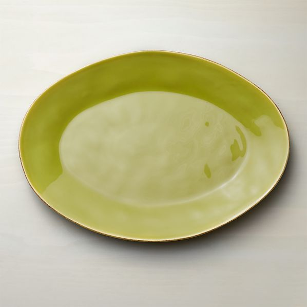 Marin Green Large Oval Platter