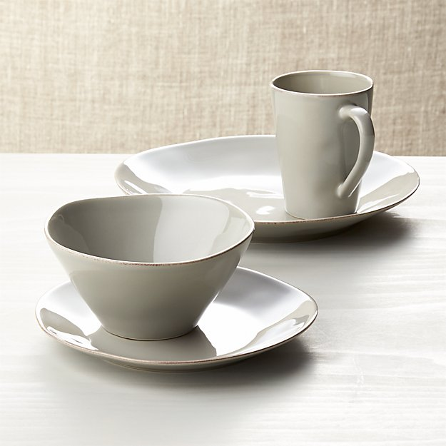 Marin Grey 4-Piece Place Setting - Image 1 of 4