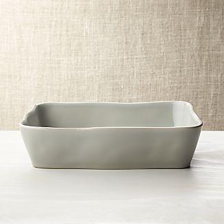 """Marin Grey 12""""x8.5"""" Baking Dish"""