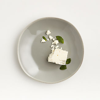 Marin Grey Melamine Salad Plate