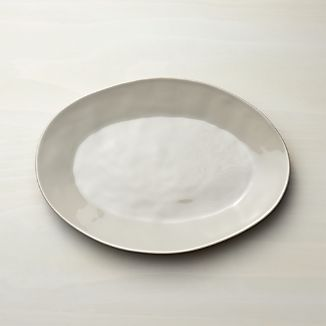 Marin Grey Small Oval Platter