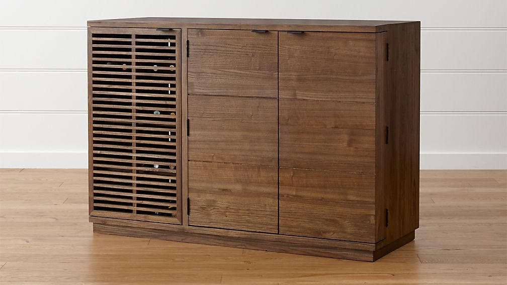 Marin Shiitake Large Bar/Media Cabinet - Image 1 of 8
