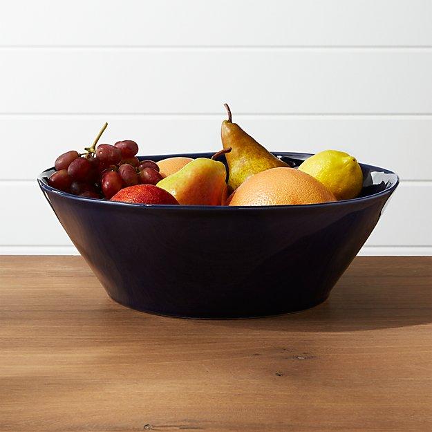 Marin Dark Blue Large Serving Bowl - Image 1 of 2